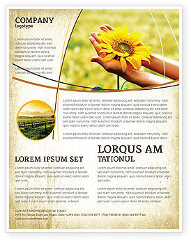 Summer Flower Flyer Template, 03501, Abstract/Textures — PoweredTemplate.com