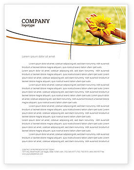 Summer Flower Letterhead Template