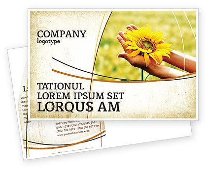 Abstract/Textures: Summer Flower Postcard Template #03501