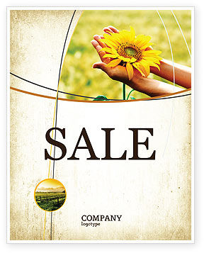 Summer Flower Sale Poster Template
