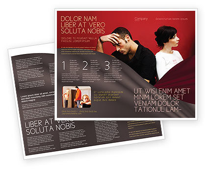 Quarrel Brochure Template, 03502, People — PoweredTemplate.com
