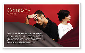 Quarrel Business Card Template, 03502, People — PoweredTemplate.com