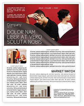 Quarrel Newsletter Template, 03502, People — PoweredTemplate.com