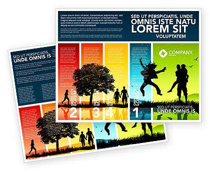Summer Time Brochure Template, 03503, Holiday/Special Occasion — PoweredTemplate.com