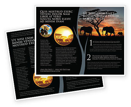 Nature & Environment: Savanna Brochure Template #03506