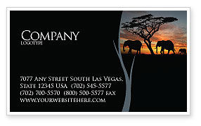Nature & Environment: Savanna Business Card Template #03506