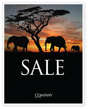 Nature & Environment: Savanna Sale Poster Template #03506