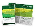 Nature & Environment: Plantilla de folleto - paisaje de montaña #03509