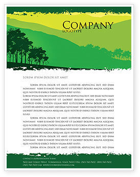 Nature & Environment: Mountain Landscape Letterhead Template #03509