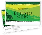 Nature & Environment: Mountain Landscape Postcard Template #03509