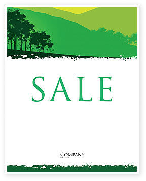 Nature & Environment: Mountain Landscape Sale Poster Template #03509
