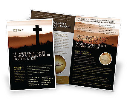 Memento Mori Brochure Template, 03510, Religious/Spiritual — PoweredTemplate.com