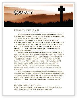 Memento Mori Letterhead Template, 03510, Religious/Spiritual — PoweredTemplate.com