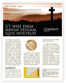 Memento Mori Newsletter Template, 03510, Religious/Spiritual — PoweredTemplate.com