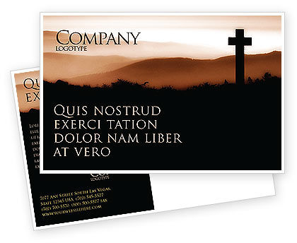 Religious/Spiritual: Memento Mori Postcard Template #03510