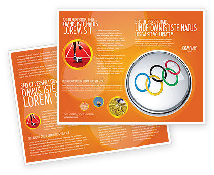 Sports: Olympic Symbol Brochure Template #03512