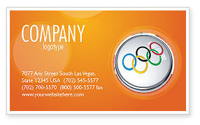 Olympic Symbol Business Card Template, 03512, Sports — PoweredTemplate.com