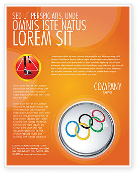 Olympic Symbol Flyer Template, 03512, Sports — PoweredTemplate.com