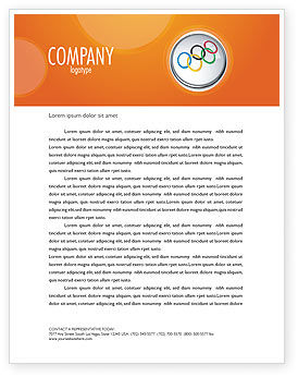 Sports: Olympic Symbol Letterhead Template #03512