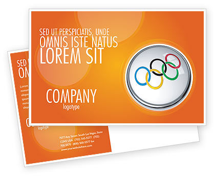 Sports: Olympic Symbol Postcard Template #03512