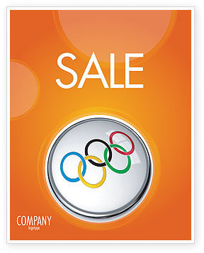 Olympic Symbol Sale Poster Template, 03512, Sports — PoweredTemplate.com