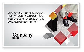 Waiting Opportunity Business Card Template, 03515, Business — PoweredTemplate.com