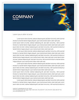 Genes In DNA Letterhead Template