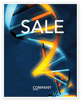 Genes In DNA Sale Poster Template, 03516, Medical — PoweredTemplate.com