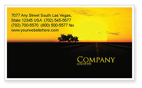 Construction: Sunset Highway Business Card Template #03518