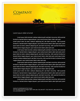 Sunset Highway Letterhead Template, 03518, Construction — PoweredTemplate.com