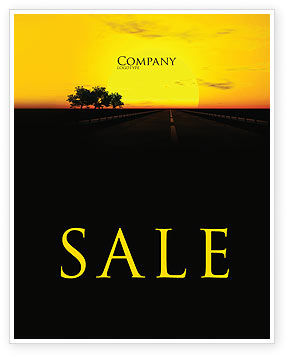 Sunset Highway Sale Poster Template, 03518, Construction — PoweredTemplate.com