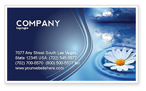 Nature & Environment: Daisy Wheel Business Card Template #03519