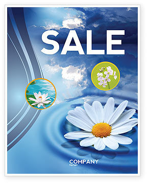 Nature & Environment: Daisy Wheel Sale Poster Template #03519