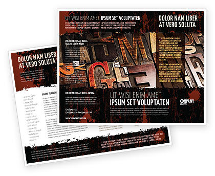 Typefaces Brochure Template, 03520, Careers/Industry — PoweredTemplate.com