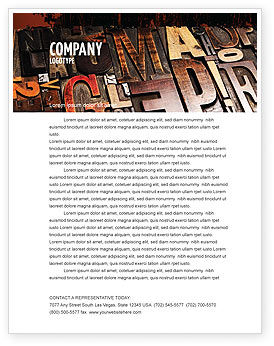 Typefaces Letterhead Template, 03520, Careers/Industry — PoweredTemplate.com
