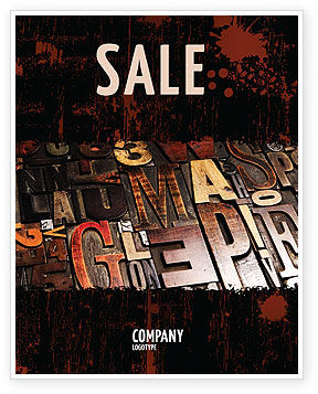 Typefaces Sale Poster Template