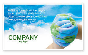 Global: Mother Earth Business Card Template #03522