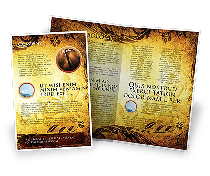 Fairy Tale Brochure Template, 03523, Abstract/Textures — PoweredTemplate.com