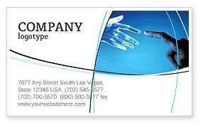 People and Technology Business Card Template