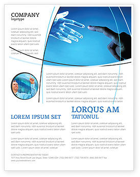 People And Technology Flyer Template Background In Microsoft Word - Technology brochure template