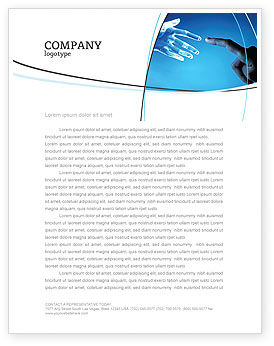People and Technology Letterhead Template, 03524, Technology, Science & Computers — PoweredTemplate.com