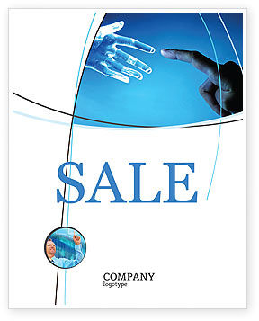 Technology, Science & Computers: People and Technology Sale Poster Template #03524