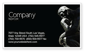 Art & Entertainment: Thinker Business Card Template #03525