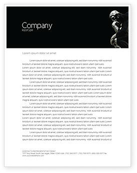 Art & Entertainment: Thinker Letterhead Template #03525