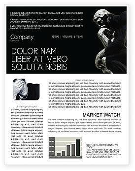 Thinker Newsletter Template, 03525, Art & Entertainment — PoweredTemplate.com