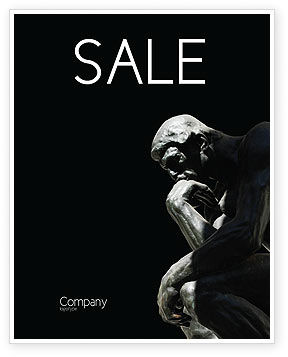 Thinker Sale Poster Template, 03525, Art & Entertainment — PoweredTemplate.com