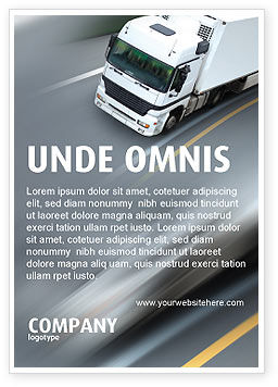 Freight Service Ad Template, 03527, Cars/Transportation — PoweredTemplate.com