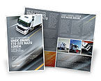 Cars/Transportation: Freight Service Brochure Template #03527
