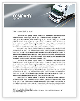 Freight Service Letterhead Template, 03527, Cars/Transportation — PoweredTemplate.com