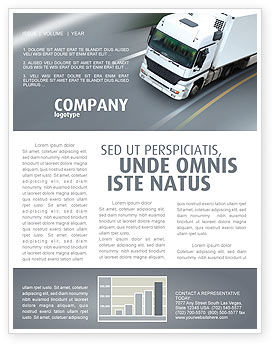 Cars/Transportation: Freight Service Newsletter Template #03527